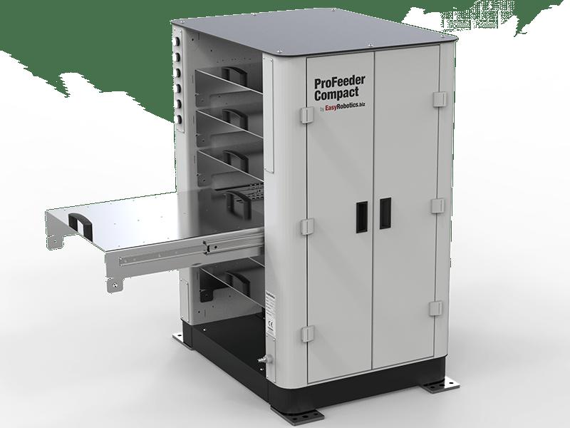 EasyRobotics ProFeeder Compact mit geöffnetem Fach