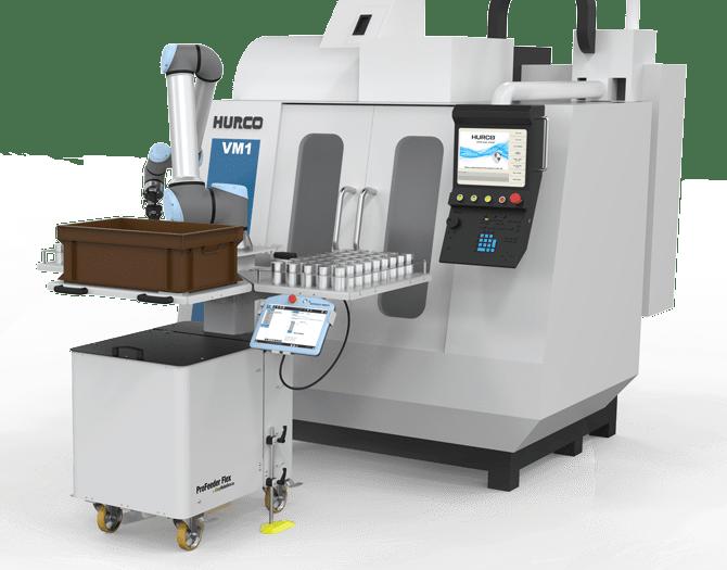 CNC machine and EasyRobotics ProFeeder Flex