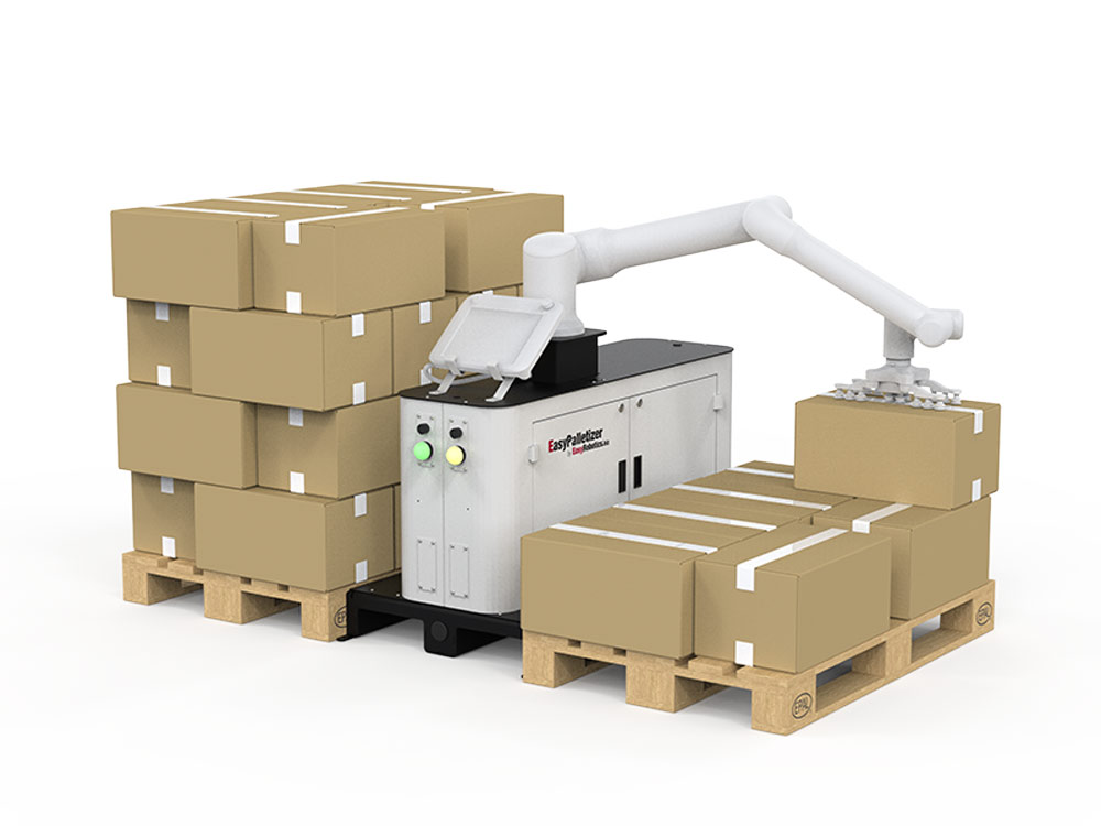 ER Palletizer with generic robot loading the pallet